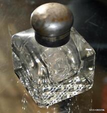 Rare encrier en cristal de Baccarat et metal argente art nouveau