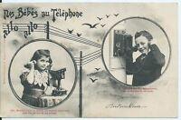 CPA- Carte postale -Bergeret - Nos Bébés au Téléphone