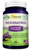 aSquared Nutrition Resveratrol - 100% Pure Natural - 1000mg - 180 Capsules