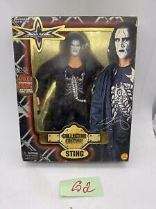 "STING 8 inch ACTION FIGURE 1999 WCW Wrestling TOY BIZ 8"" Collector Edition RARE"