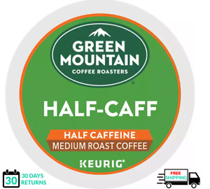 Green Mountain 1/2 Half Caff Keurig Coffee K-cups YOU PICK THE SIZE