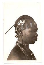 Africa, upper Volta, native Kado Woman Portrait, Jewelry, real photo, Lattès' 30