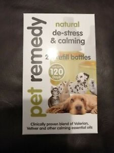 PET REMEDY DE-STRESS AND CALMING 2 X REFILL BOTTLES{NO PLUGIN} 120 DAYS !!