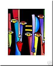 LINED UP - CONTEMPORARY POP ART Abstract MODERN print FIDOSTUDIO