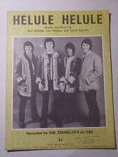 THE TREMELOES Helule Helule 1968 Beat Music Sheet