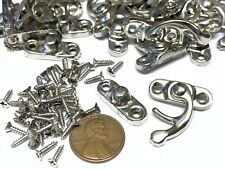 25 pieces BXR brand S Silver Nickle Wood Box Case Latch Clasp small metal a10
