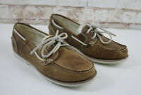 Timbelrna Brown Leather Boat Shoes Size Uk 6.5