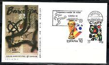 ESPAÑA SOBRE 1º DÍA 1982 BARCELONA 2644/45  MUNDIAL FUTBOL ESPAÑA 82