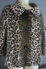 Leopard Print Jacket Coat Sz M Raphaella Soft Chic Animal Print