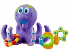 Nuby Octopus Baby Bath Floating Toy W6144 with Toss Fun Child Tub Rings