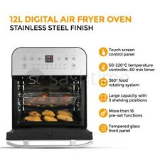 12L Digital Air Fryer Oven Low Fat Healthy Cooker Oil Free Fry Rotisserie Chip