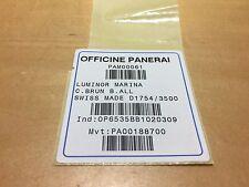 Etiqueta de reloj - Watch Tag OFFICINE PANERAI - Ref. PAM00061 - Etiketten