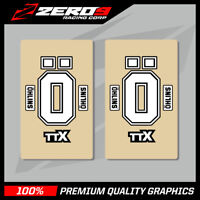 OHLINS FACTORY UPPER FORK DECALS MOTOCROSS GRAPHICS MX GRAPHICS ENDURO CLEAR