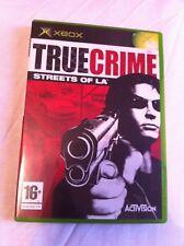 True Crime: Streets of LA - 2003 monde ouvert crime jeu (Microsoft Xbox-PAL)