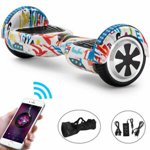 Hoverboard 6.5 Inch White Electric Scooters Bluetooth Speaker Self Balance Board