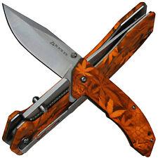 Black Ice Einhandmesser Ace Orange Taschenmesser mit Liner Lock und Gürtelclip