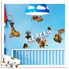 ICE AGE 4  NEW WALL STICKERS ART DECAL NURSERY/KIDS/GIRLS/BOYS ROOM DECOR