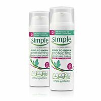 Simple Kind To Skin Protecting Moisture Cream SPF30, Pack of 2 x 50ml