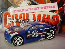 2016 Marvel /Civil War CAPTAIN AMERICA☆ blue POWER RAGE☆☆LOOSE Hot Wheels