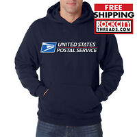 USPS POSTAL NAVY 3C HOODIE Hooded Sweatshirt Logo Chest United States Service US