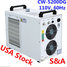 S&A USA-110V 60Hz CW-5200DG Industrial Water Chiller for One 130W/150W CO2 Tube
