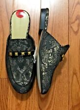 MARC FISHER GOLD STUDDED MULES SLIDES SHOES NEW WITH TAGS SIZE 6