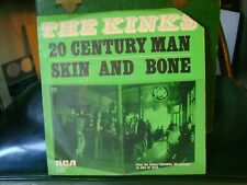 Picture Sleeve & 45~KINKS~20TH CENTURY MAN / SKIN AND BONE~NEDERLANDS~STEREO