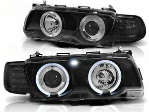 BMW 740i 750i 750iL 760iL E38 1998 1999 2000 2001 LPBM72 HEADLIGHTS HALO RIMS