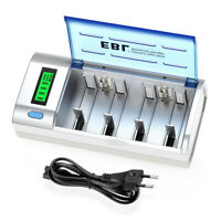 EBL Smart Charger For Ni-MH Ni-Cd AA AAA 9V C D Rechargeable Battery Universal