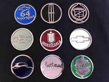 """Wire Wheel Emblem for knock offs Stainless Steel 2 1/4"""" 4 pcs w/polished Backing"""
