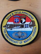 82nd & 101st Airborne 75th Market Garden Anniversary Patch shows US Jump Wings