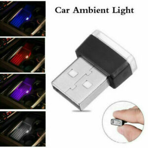 1X Mini USB LED Car Interior Light Neon Atmosphere Ambient Lamp Bulb