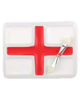ENGLAND EURO 2021 FOOTBALL SUPPORTERS FACE PAINT RED & WHITE FLAG