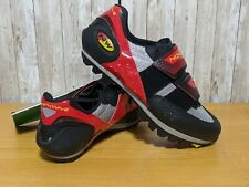 New Northwave 3D Cycling Bike Shoes Black Gray Red Size 8 US 7 UK