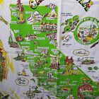 Vintage History California Landmark Tapestry Vibrant Colors Clean NS Home