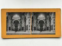 Roma St.Pierre Interno Vaticano Italia Fotografia Stereo Vintage Analogica