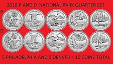 2018 America the Beautiful Quarter P & D 10 Coin Set UNC *ON HAND*