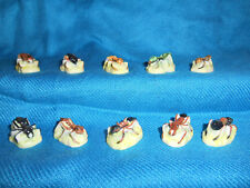 Realistic ANTS Insects BUG Set of 10 Mini Figurines FRENCH Porcelain FEVES Matte