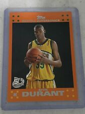 2007-08 Topps Kevin Durant Rc Rookie Set Orange #2 Seattle Supersonics