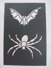 New listing New Halloween Plastic Stencil ~ Spider & Bat