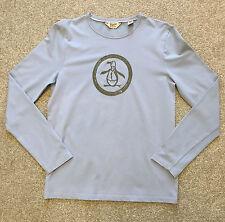 Preciosa Penguin By Munsingwear grandes logotipo Camiseta de manga larga S Pequeño