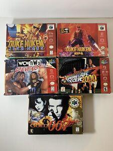 Nintendo N64 Games Lot Duke Nukem Golden Eye Revenge Superstar Soccer