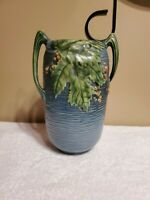 Roseville Pottery Blue Bushberry Vase 31-7