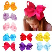 10PCS Baby Girls Big Ribbon Bows Boutique Hair Clip Hairpin Hair Accessories