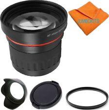 HD 3.7X TELEPHOTO ZOOM LENS +UV FILTER+HOOD + CAP FOR CANON EOS REBEL SL1 XT