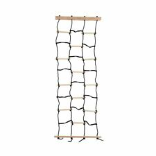 Kids Climbing Cargo Net With Nylon Rope and Wooden Dowels- Fun Outdoor Toy fo.