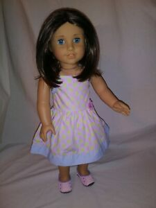 AMERICAN GIRL 2009 Doll of the Year CHRISSA Maxwell w/ sundress - Retired, EUC