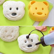 Teddy Bear Shape Bread Cake Sandwich Maker Mold Plunger Cutter Craft DIY Baking