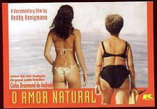 carte postale publicitaire . vers érotique du poète brésilien Carlos Drummond...