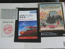 Railwayana - 3 x Japanese Railway Items - 2 Timetables, Poster + Nara Handstamp